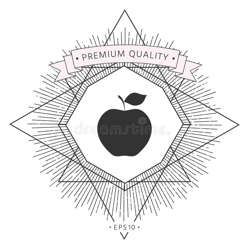 Apple symbolssymbol vektor illustrationer