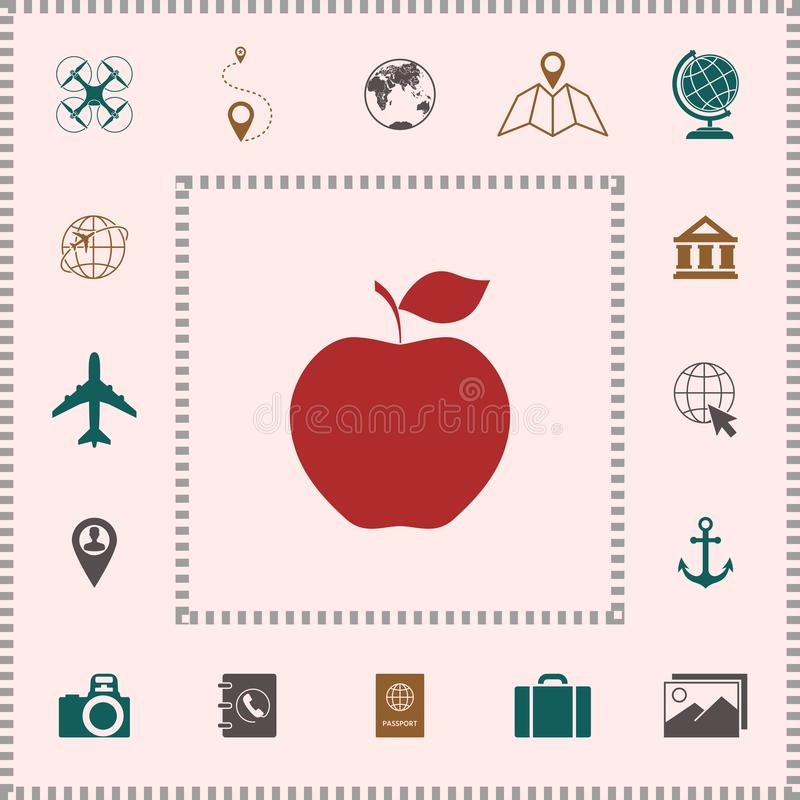 Apple symbolssymbol stock illustrationer