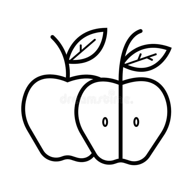 Apple symbolsvektor stock illustrationer