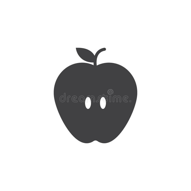 Apple symbolsvektor, fyllt plant tecken, fast pictogram som isoleras på vit vektor illustrationer