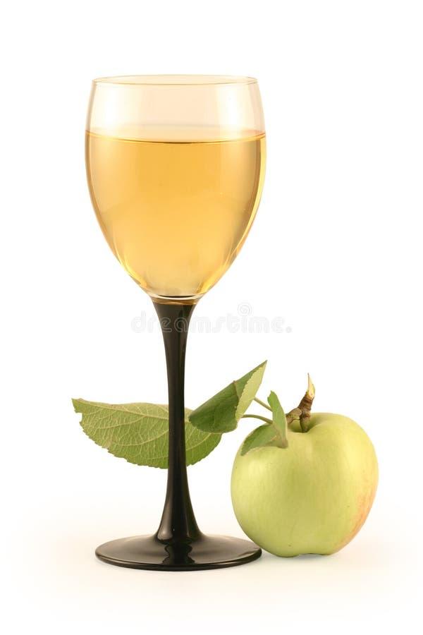 apple szkło wina obraz stock