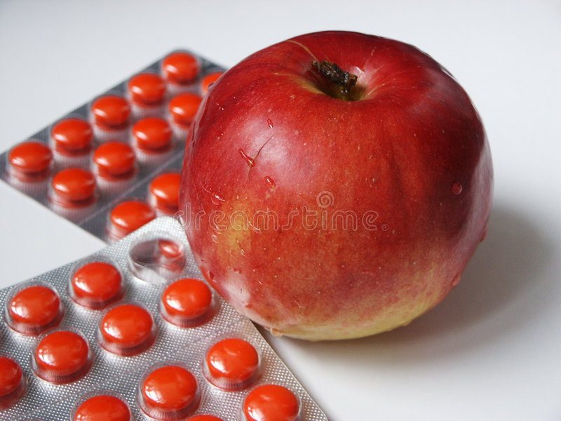 Apple and tablets royalty free stock photo