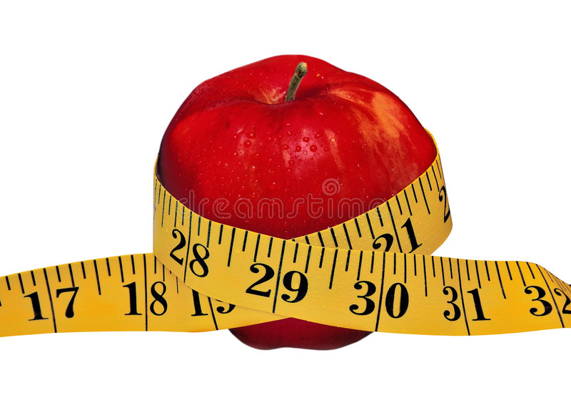 Apple With Tape royalty free stock photos