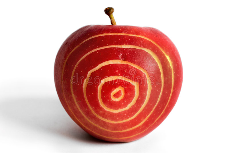 Apple-target royalty free stock photo