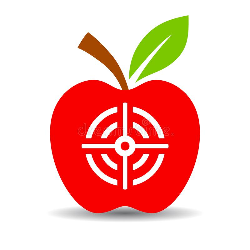 Apple target vector icon royalty free illustration