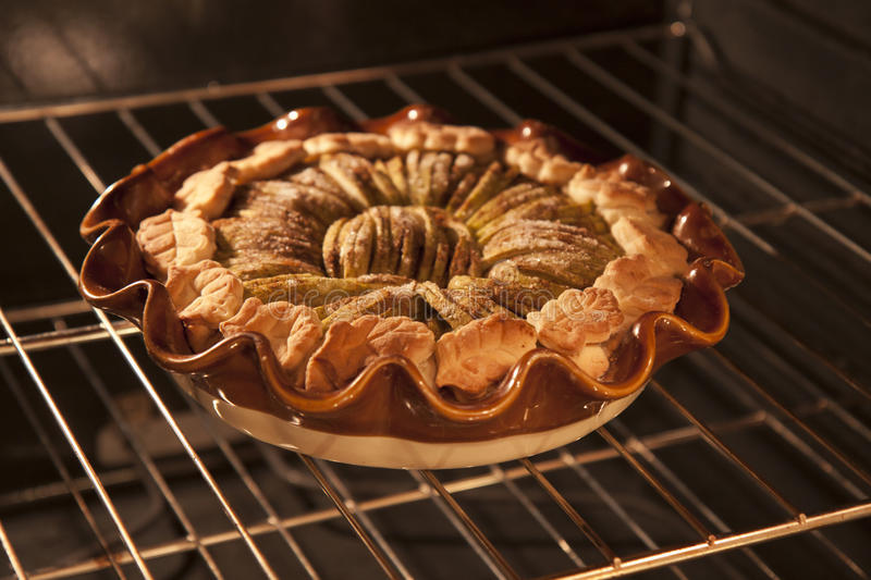 Download Apple tart in oven stock image. Image of oven, food, kitchen - 21412877