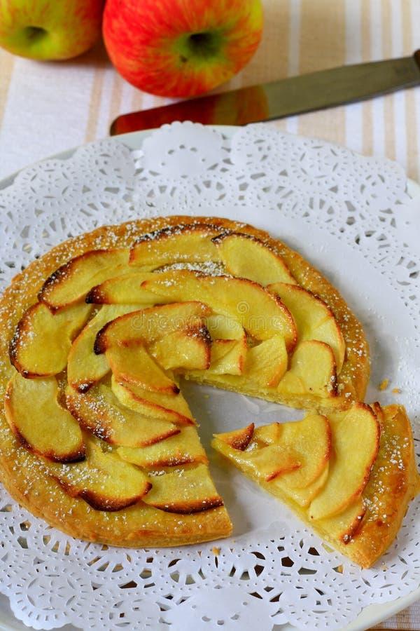 Apple tart. Pretty apple tart for tea time royalty free stock photos
