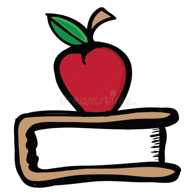 Apple for teacher stock illustration