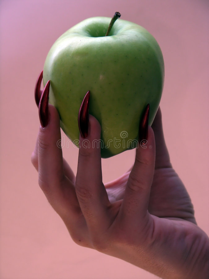 Apple of the temptation royalty free stock photography