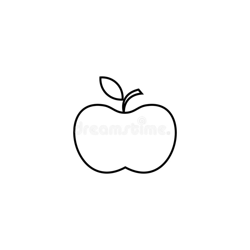 Apple icon. Line icon for infographic, website or app. Outline symbol to design a website and mobile applications. Simple dental i vector illustration