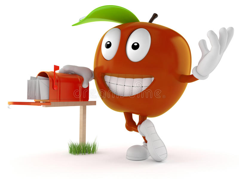 Apple Toon met brievenbus vector illustratie