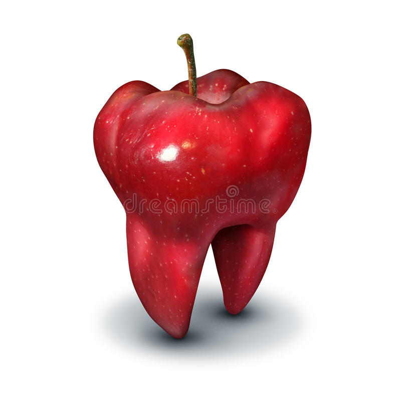 Apple Tooth royalty free illustration