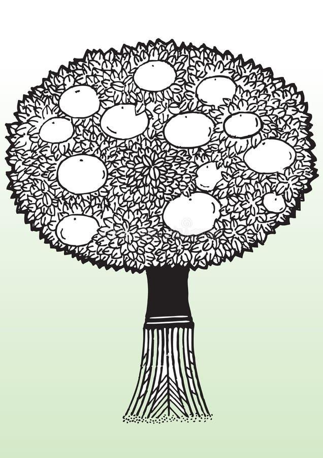 Apple tree royaltyfri illustrationer