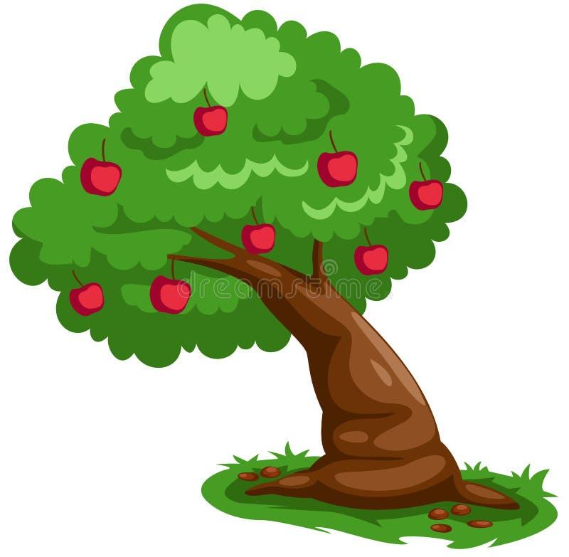 Apple tree vector illustration