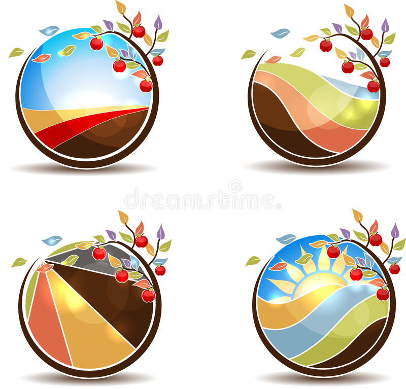 Apple tree concept vector illustration