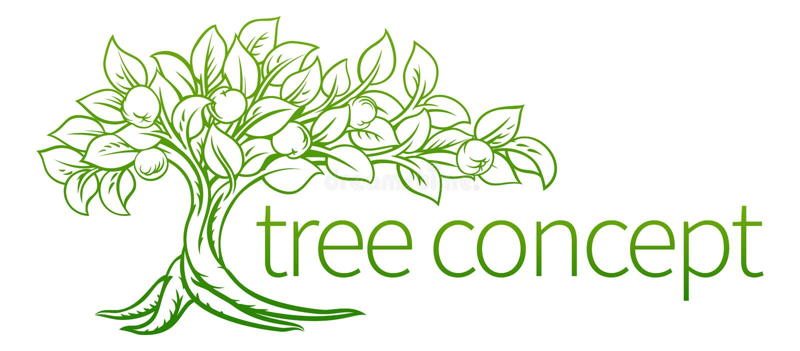 Conceptual Tree Icon stock illustration
