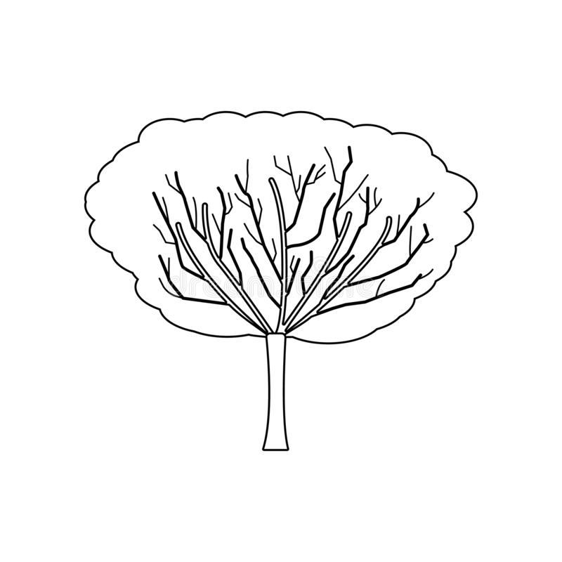 Apple tree icon. Set of silhouette of tree icons. Web Icons Premium quality graphic design. Signs, outline symbols collection, stock illustration