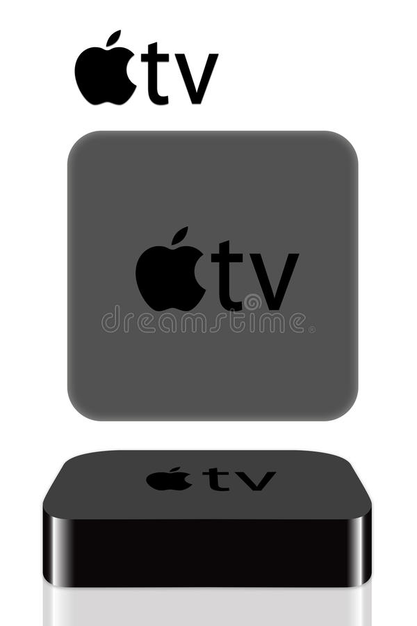 Apple TV illustration stock