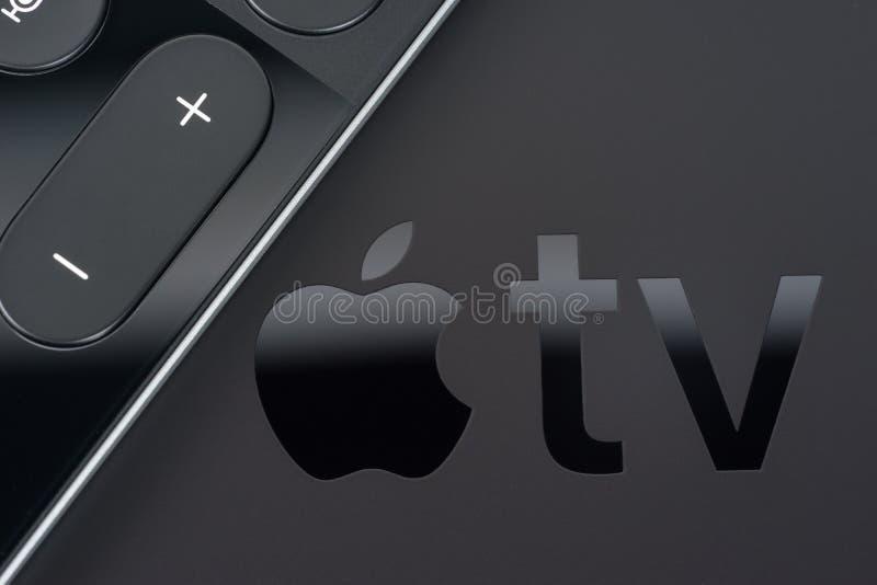 Apple TV 4K zdjęcie stock