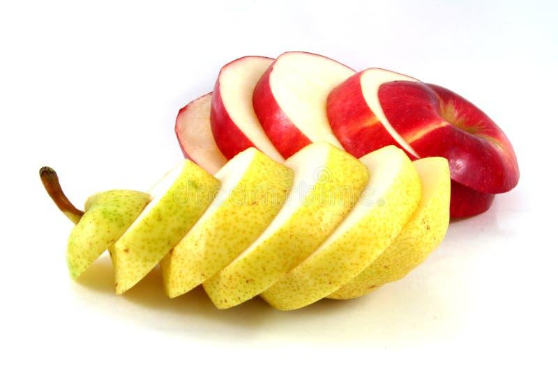 Apple und Birne stockfotografie