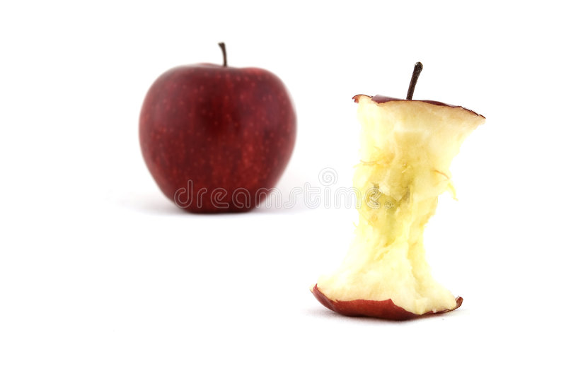 Apple und Kern stockbilder