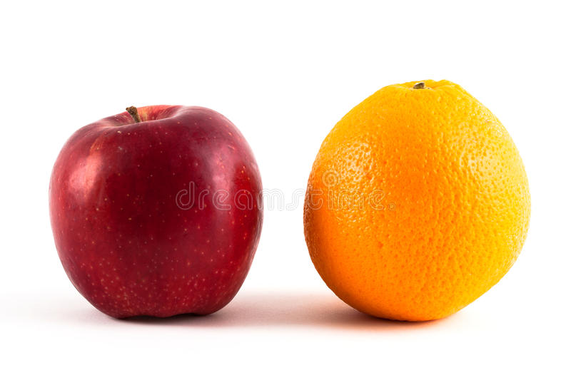 Apple und Orange lizenzfreies stockfoto