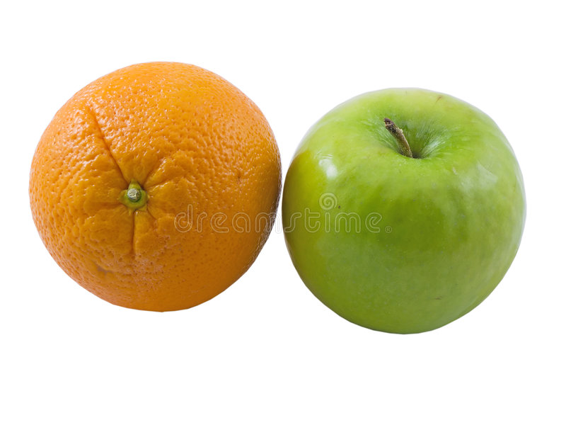 Apple und Orange stockbild