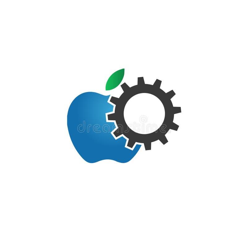 Apple usługi telefonu logo gearwheel ilustracja wektor