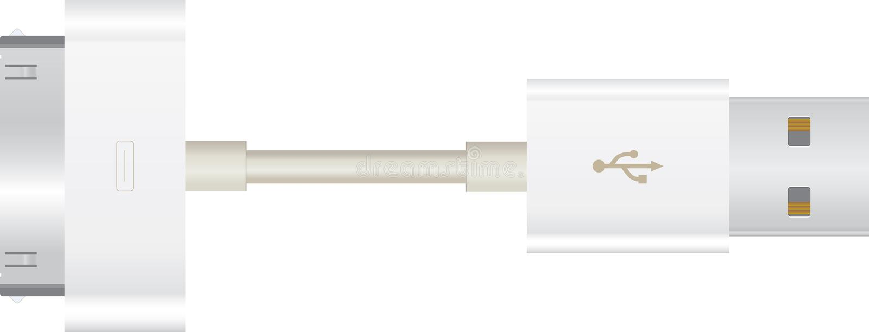 Apple USB-Seilzug stock abbildung