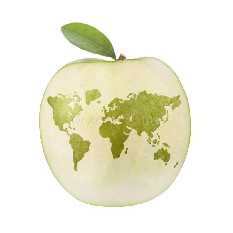 Apple värld royaltyfri illustrationer
