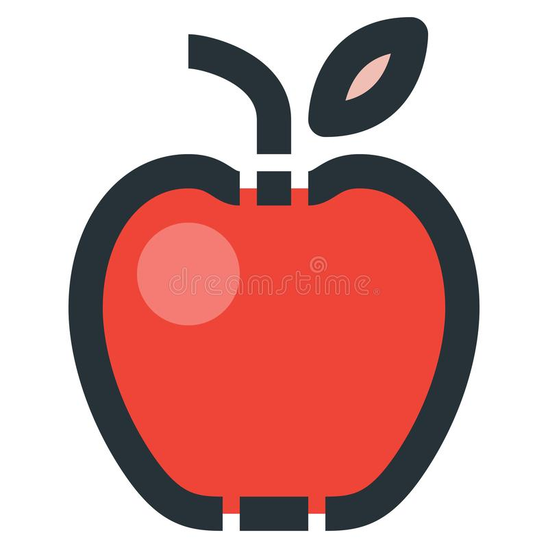 Apple Vector Filled Line Icon 32x32 Pixel Perfect. Editable 2 Pi. Xel Stroke Weight. Colorful Medical Health Icon for Website Mobile App Presentation royalty free illustration