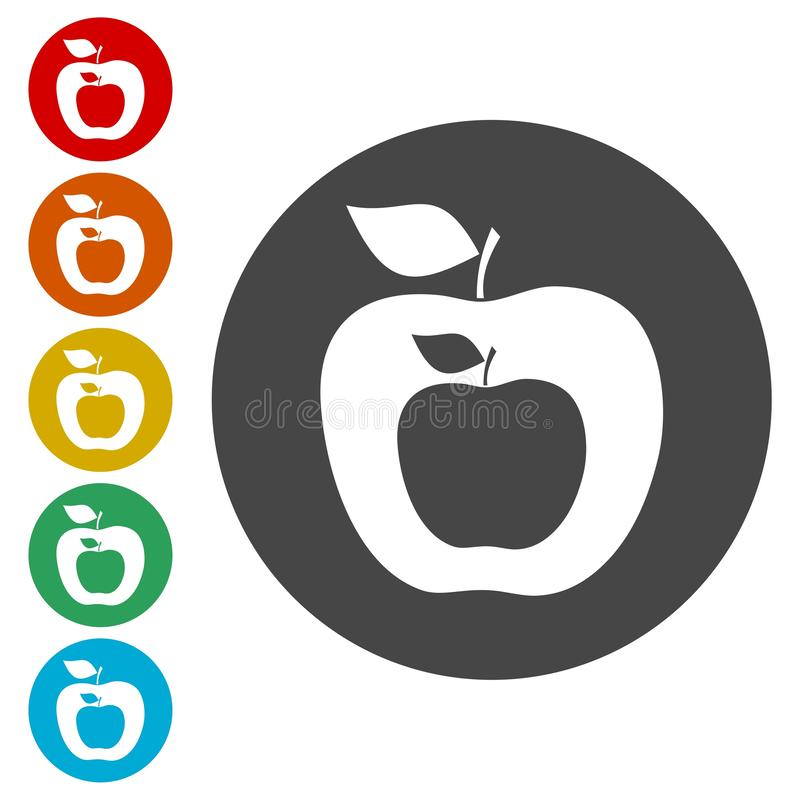 Apple - vector icons set. Vector icon vector illustration