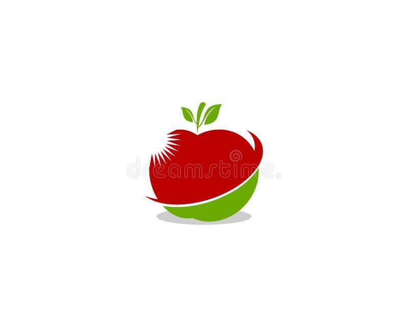 Apple vector illustration design icon logo template stock illustration