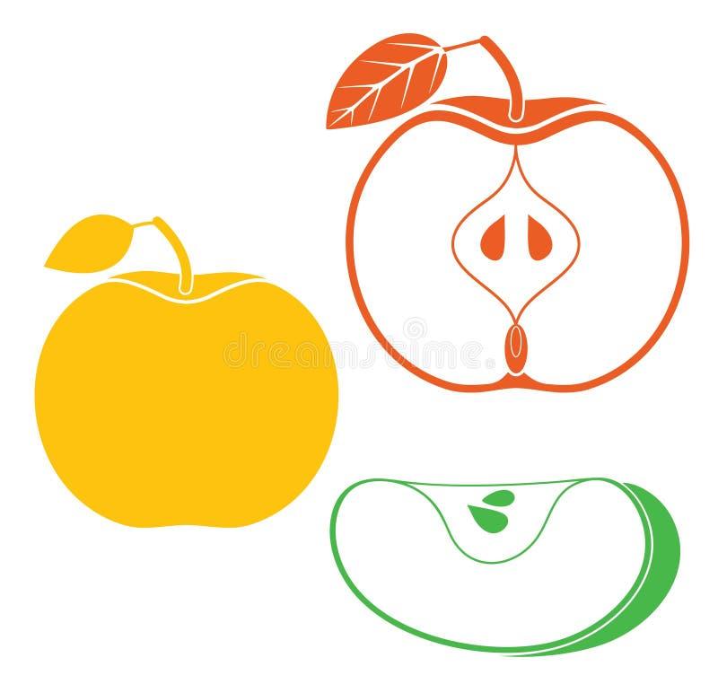 Apple. Vector illustration (EPS 10 stock illustration