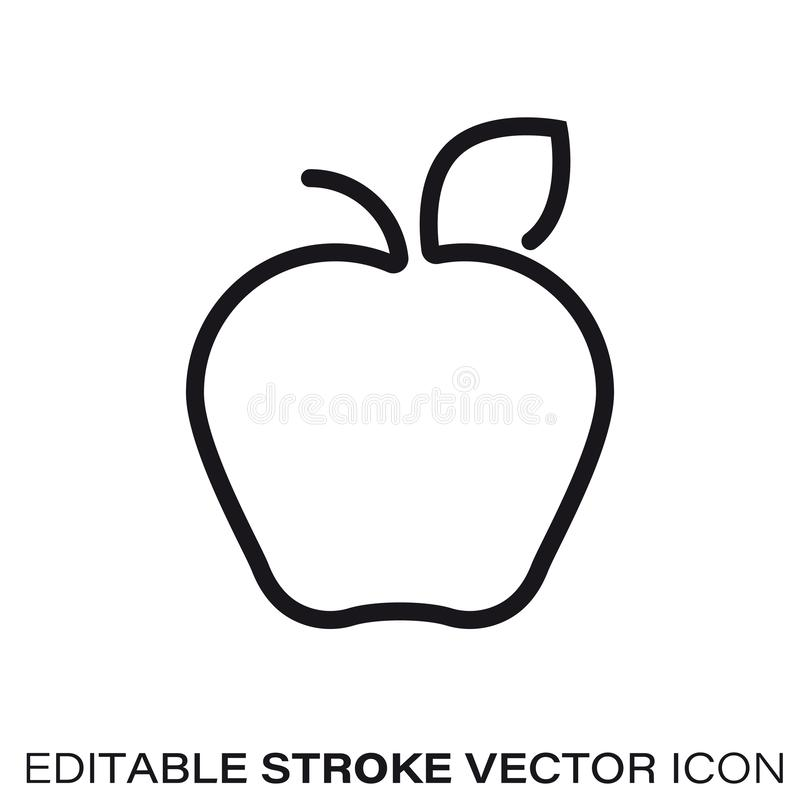 Apple vector line icon royalty free illustration