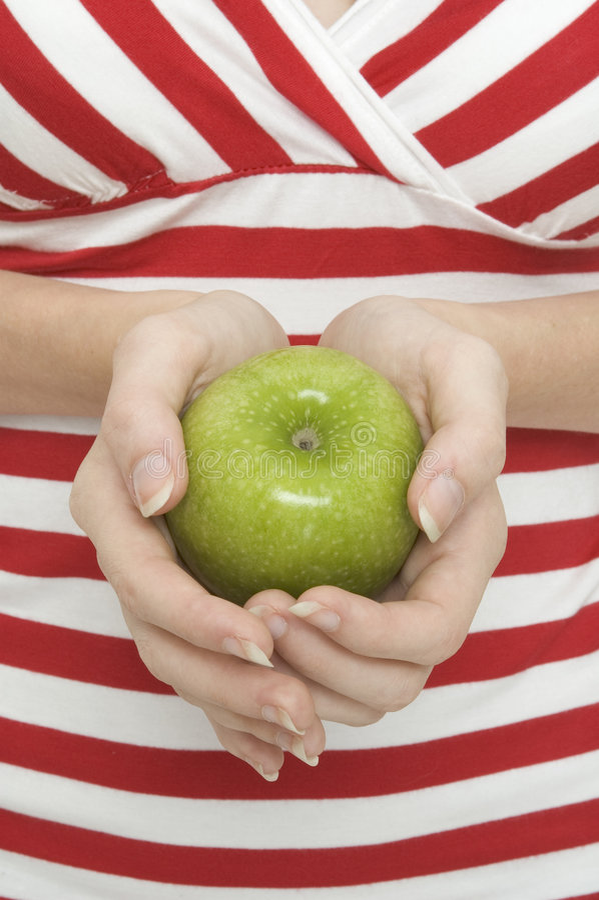 Apple verde 2 fotos de stock royalty free