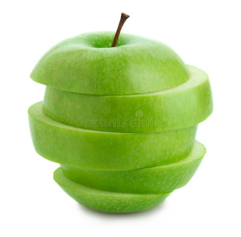 Apple verde affettato fotografia stock