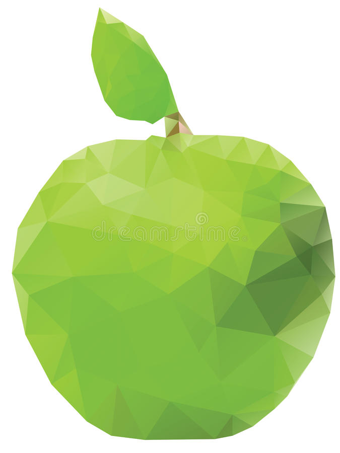 Apple verde geometrico royalty illustrazione gratis
