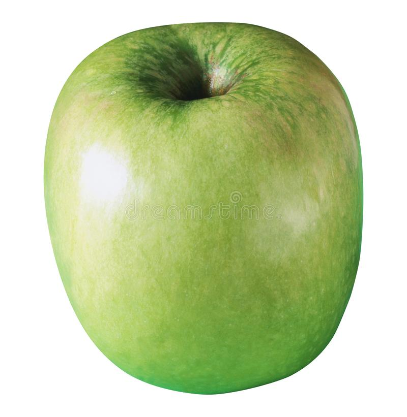 Apple verde isolato su bianco immagini stock