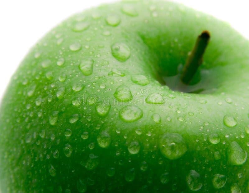Apple verde mojado imagenes de archivo