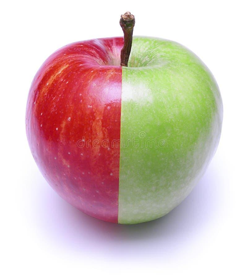 Apple verde rojo fotos de archivo