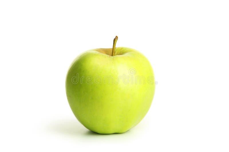 Apple vert d'isolement sur le blanc photos libres de droits
