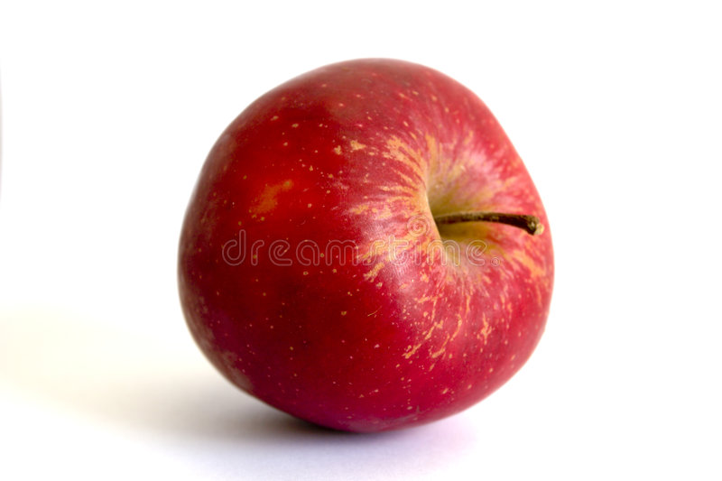 Apple Very Red Juicy stock images
