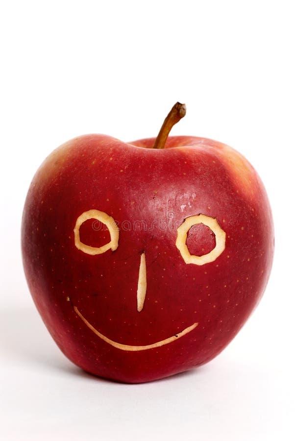 Apple-visage photographie stock libre de droits