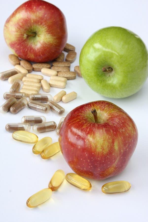 Apple-Vitamine stockfoto