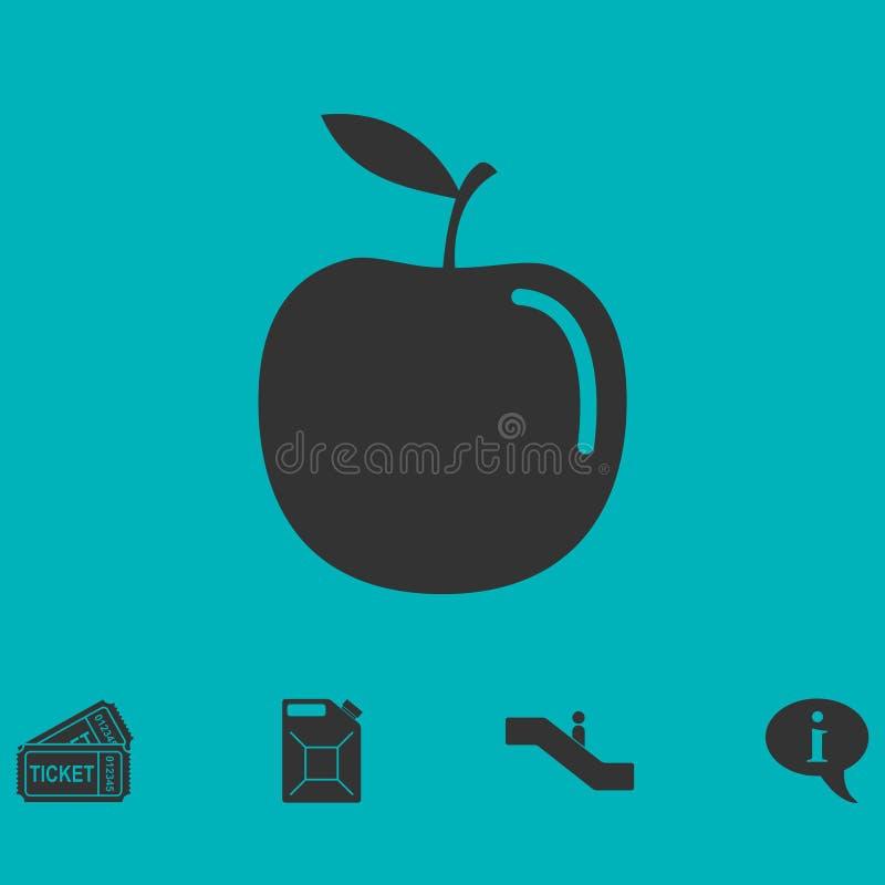Apple-vlak pictogram vector illustratie