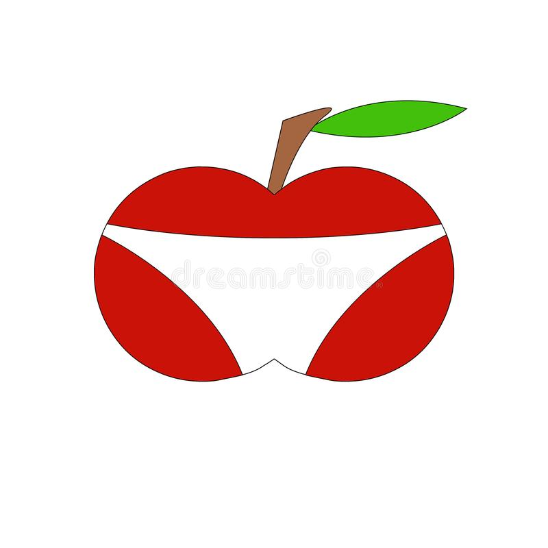 Apple w skrótach fotografia royalty free