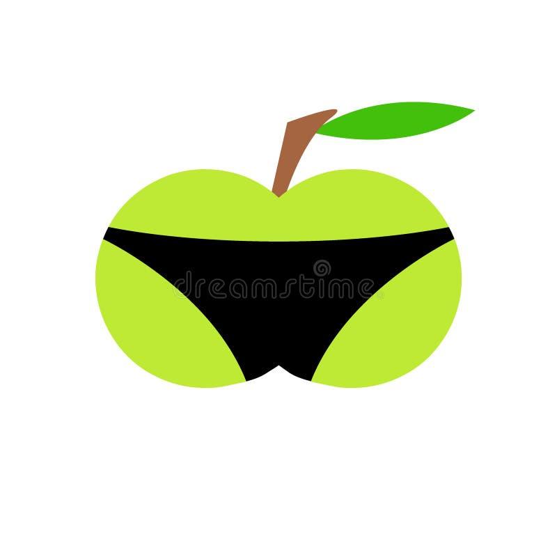 Apple w skrótach obraz royalty free