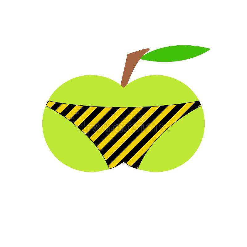 Apple w skrótach obrazy stock