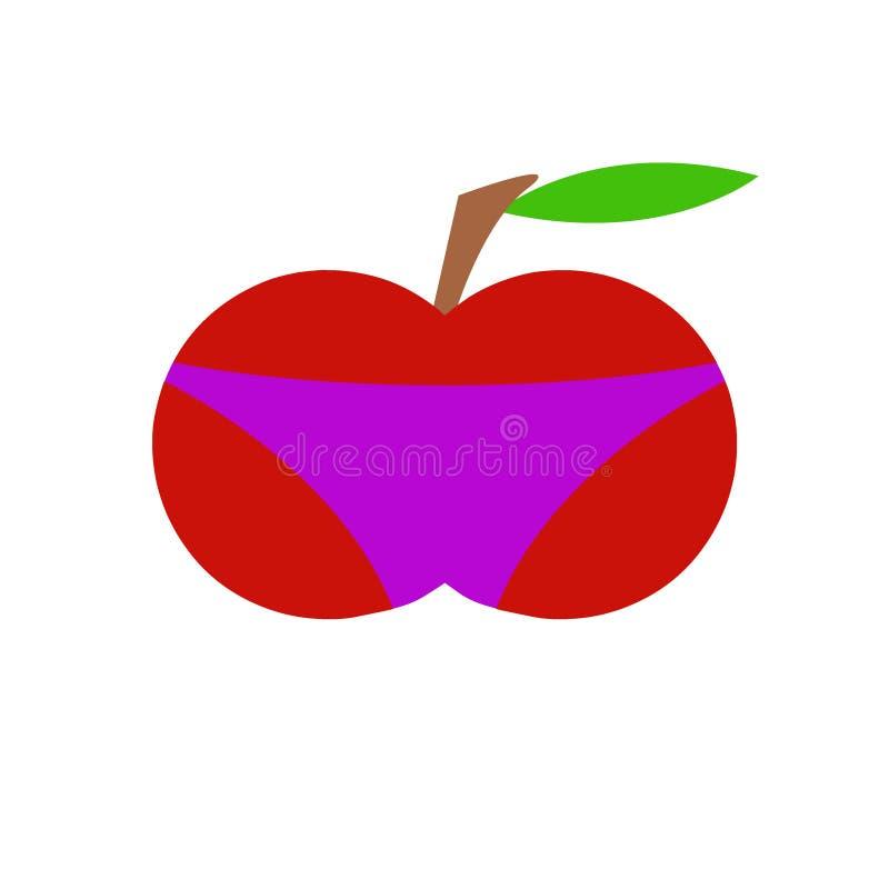 Apple w skrótach zdjęcie royalty free